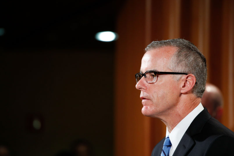 "WASHINGTON, July 20, 2017 -- Andrew McCabe, U.S. acting director of the Federal Bureau of Investigation, attends a press conference at the U.S. Justice Department in Washington D.C., the United States, on July 20, 2017. The world's largest ""dark market"" on the Internet, AlphaBay, has been shut down, the U.S. Justice Department (DOJ) said Thursday. (Xinhua/Ting Shen)"