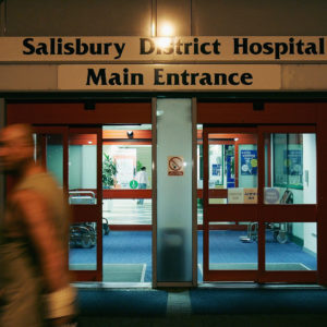 WILTSHIRE, ENGLAND - AUGUST 16: A general view of Salibury District Hospital following singer Madonna's admittance due to injuries sustained whilst horse riding August 16,  2005, in Wiltshire, England. Pop star Madonna, who was celebrating her 47th birthday, broke her collar bone, a hand, and cracked three ribs after falling from a horse at Ashcombe House, her country house outside London. (Photo by MJ Kim/Getty Images)