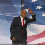 Tom Barrack, former Deputy Interior Undersecretary in the Reagan administration, and CEO of Colony Capital, delivers a speech on the fourth day of the Republican National Convention on July 21, 2016 at the Quicken Loans Arena in Cleveland, Ohio.