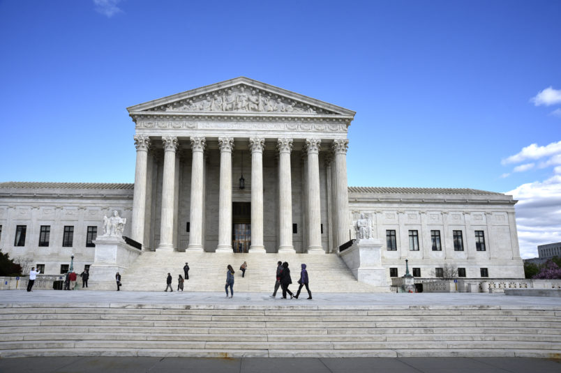 WASHINGTON, D.C. - APRIL 19, 2018:  The U.S. Supreme Court Building in Washington, D.C., is the seat of the Supreme Court of the United States and the Judicial Branch of government. (Photo by Robert Alexander/Getty Images)