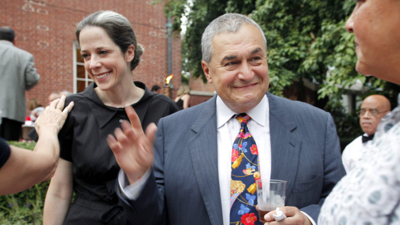 """WASHINGTON DC-August 2, 2011:  Heather and Tony Podesta (Chairman Podesta Group) attended the intimate """"Summer Chic"""" barbeque at Esther Coopersmith's DC home to celebrate the recent marriage of lawyer Jack Einwechter to Congresswoman Loretta  Sanchez (D-CA))  (Photo by Rebecca D'Angelo/For the Washington Post)"""