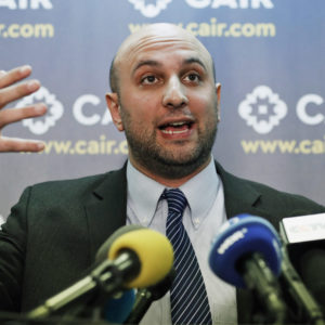 Attorney Gadeir Abbas speaks during a news conference at the Council on American-Islamic Relations (CAIR), Monday, Jan. 30, 2017, in Washington. The group announced the filing of a federal lawsuit on behalf of more than 20 individuals challenging an executive order signed by President Donald Trump. (AP Photo/Alex Brandon)