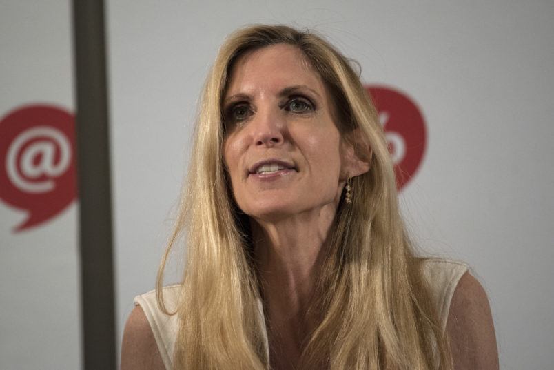 Ann Coulter speaks during Politicon at the Pasadena Convention Center in Pasadena, California on July 29, 2017. Politicon is a bipartisan convention that mixes politics, comedy and entertainment. (Photo by: Ronen Tivony) (Photo by Ronen Tivony/NurPhoto)