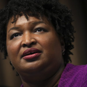 NEW YORK, NY - APRIL 3: Former Georgia Gubernatorial candidate Stacey Abrams speaks at the National Action Network's annual convention, April 3, 2019 in New York City. A dozen 2020 Democratic presidential candidates will speak at the organization's convention this week. Founded by Rev. Al Sharpton in 1991, the National Action Network is one of the most influential African American organizations dedicated to civil rights in America. (Photo by Drew Angerer/Getty Images)