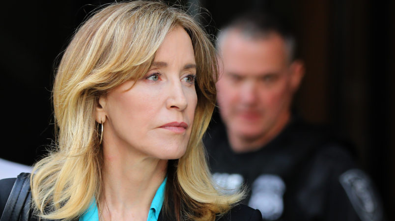 Boston, MA - 4/3/19 Actress Felicity Huffman (cq) leaves court.More parents accused of bribery in the college admissions scandal appear at federal court.Photo by Pat Greenhouse/Globe StaffTopic: 04collegescandal