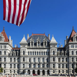 ALBANY, NEW YORK, UNITED STATES - 2018/10/09: New York State Capitol Building. (Photo by John Greim/LightRocket via Getty Images)