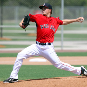31 AUG 2014:     Gabe Speier of the Red Sox during the Gulf Coast League Championship game #2 between the GCL Yankees 1 and the GCL Red Sox at the Jet Blue Park - Fenway South Complex in Ft. Myers, Florida.
