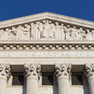 CAPITOL HILL, WASHINGTON, DISTRICT OF COLUMBIA, UNITED STATES - 2013/06/01: Supreme Court Building, eastern facade. (Photo by John Greim/LightRocket via Getty Images)