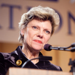 WASHINGTON - FEBRUARY 10: Journalist Cokie Roberts appears at the National Press Foundation's 26th annual awards dinner on February 10, 2009 in Washington, DC. Charles Gibson of ABC News won this year's Sol Taishoff Award for Excellence in Broadcast Journalism. (Photo by Brendan Hoffman/Getty Images) *** Local Caption *** Cokie Roberts