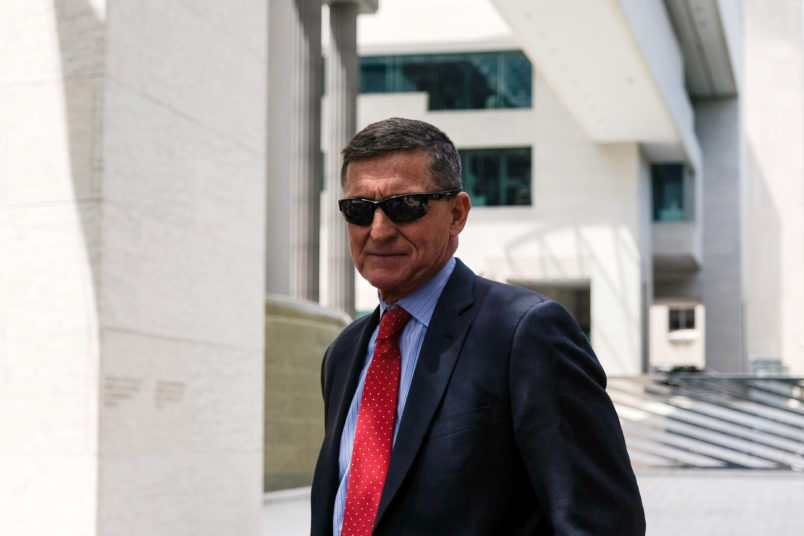 WASHINGTON, DC - JUNE 24: Former Trump national security advisor Michael Flynn leaves the E. Barrett Prettyman U.S. Courthouse on June 24, 2019 in Washington, DC. Flynn is expected to testify again on July 15. (Photo by Alex Wroblewski/Getty Images)