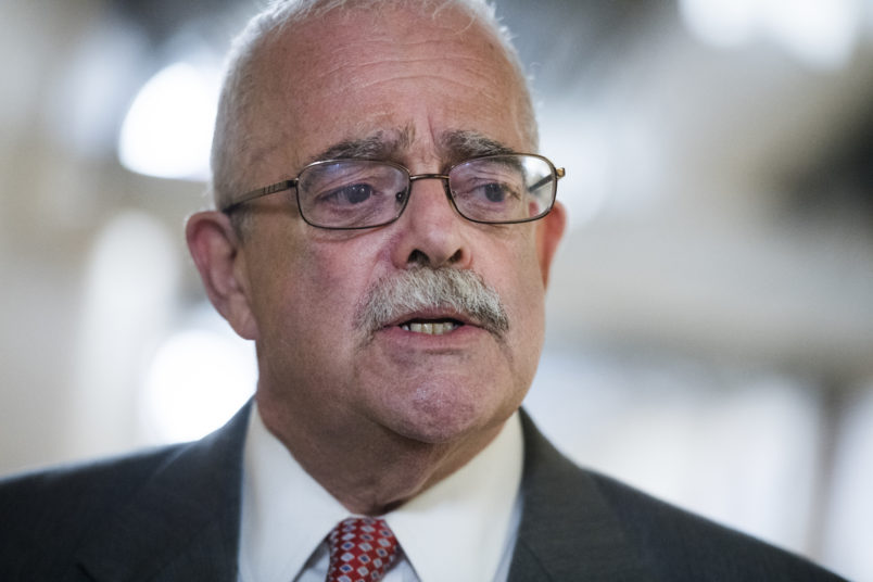 UNITED STATES - JULY 17: Rep. Gerry Connolly, D-Va., talks with reporters after a meeting of House Democrats in the Capitol on Wednesday, July 17, 2019. (Photo By Tom Williams/CQ Roll Call)
