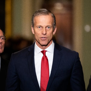 WASHINGTON, UNITED STATES - JANUARY 14 2020: U.S. Senator John Thune (R-SD) speaks at the Republican Senate Caucus press conference in Washington, DC.