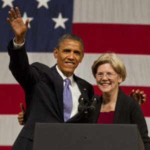 6/25/12     Boston, MA       President Barak Obama (cq) with Senate candidate Elizabeth Warren during at a fund raiser in Symphony Hall on Monday  June 25,  2012.   (Matthew J. Lee)  slug:  26obama   section:    reporter: