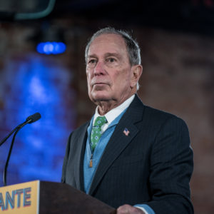 "EL PASO, TX - JANUARY 29: Democratic presidential candidate Mike Bloomberg announces his new Latino policy ""El Paso Adelante"" (the path forward) at a campaign rally on January 29, 2020 in El Paso, Texas. (Photo by Cengiz Yar/Getty Images)"