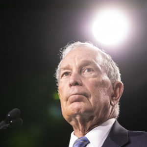 NASHVILLE, TN - FEBRUARY 12:  Democratic presidential candidate former New York City Mayor Mike Bloomberg delivers remarks during a campaign rally on February 12, 2020 in Nashville, Tennessee. Bloomberg is holding the rally to mark the beginning of early voting in Tennessee ahead of the Super Tuesday primary on March 3rd.  (Photo by Brett Carlsen/Getty Images) *** Local Caption *** Mike Bloomberg