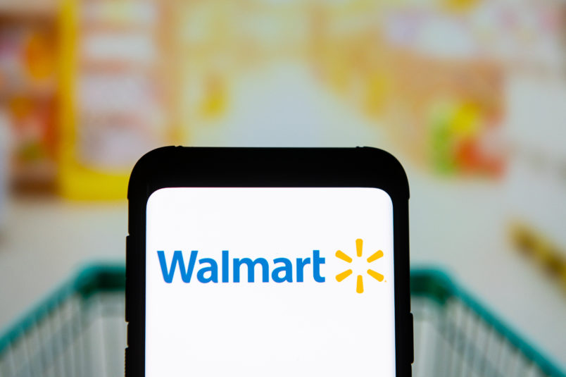 POLAND - 2020/03/23: In this photo illustration a Walmart logo seen displayed on a smartphone. (Photo Illustration by Mateusz Slodkowski/SOPA Images/LightRocket via Getty Images)