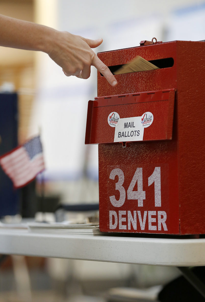 NEDERLAND, CO -  NOVEMBER 6:  Colorado is considered by most experts to be a key battleground state in this year's election. (Photo by Marc Piscotty/Getty Images) *** Local Caption *** Person